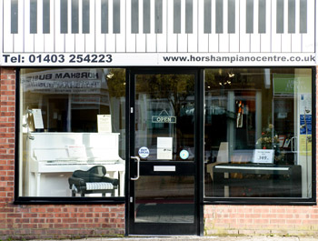 Horsham Piano Centre shop front